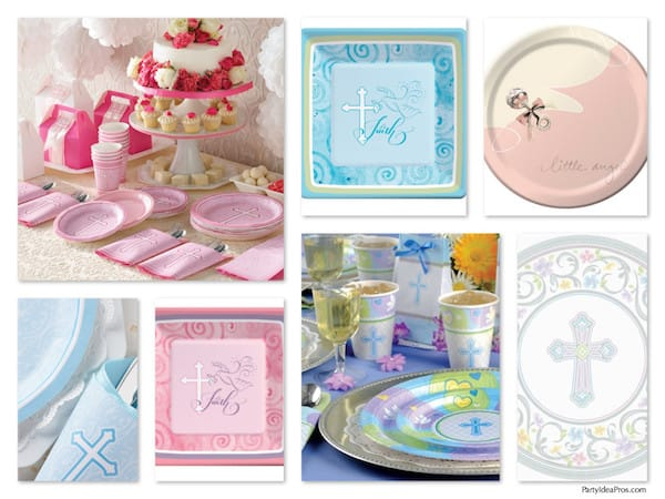 Baptism, Christening, Holy Communion, Religious Party Plates
