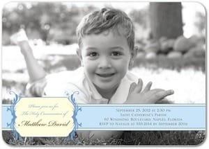 Boys Photo Holy Communion Invitation