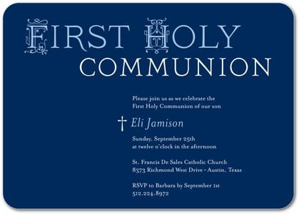 Communion Invitations in Navy