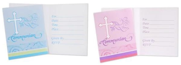 Faithful Dove Fill-In Communion Invitations