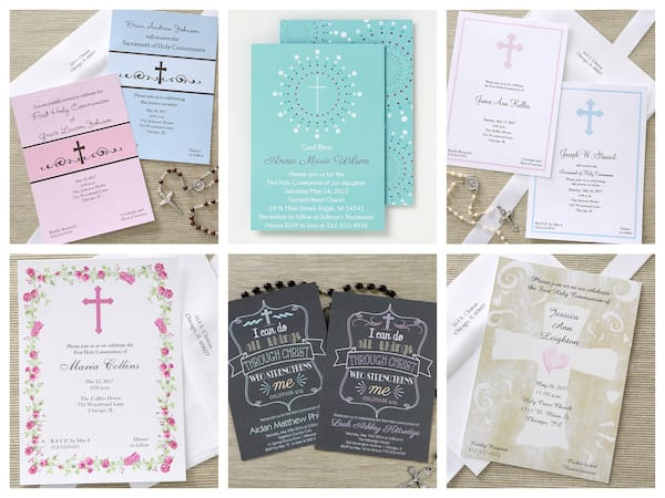 Holy communion invitations tableware apparel gifts religious first communion invitations solutioingenieria Choice Image