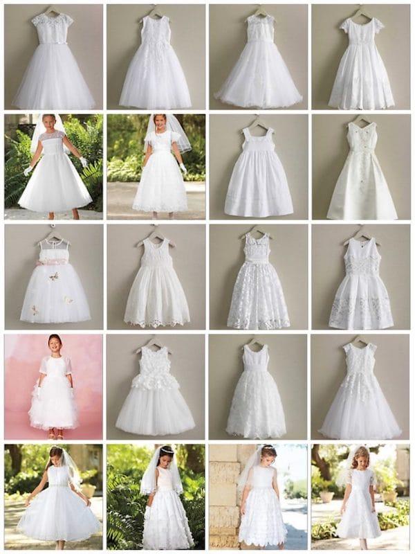 Girls White Communion Dresses