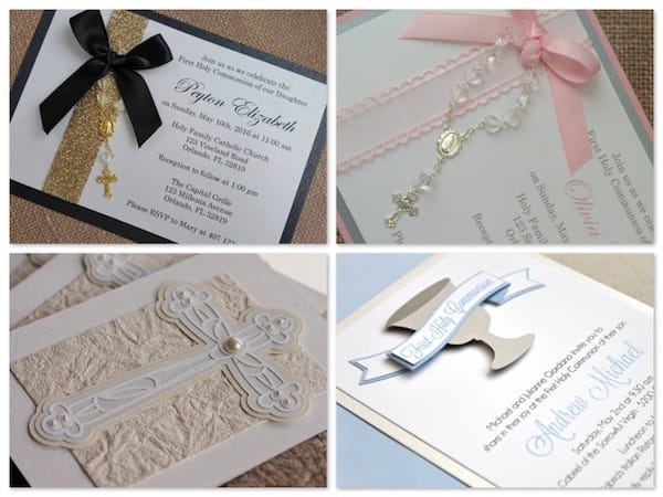 Handmade Holy Communion Invitations