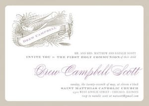 Personalized First Holy Communion Invitations
