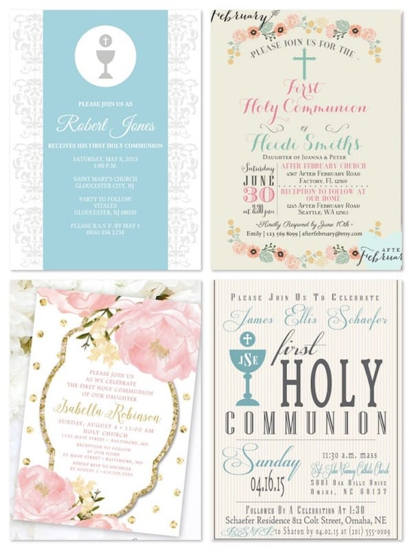 Printable Holy Communion Invitations