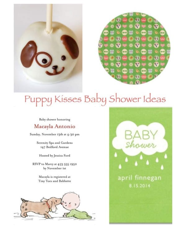 Puppy Kisses Baby Shower Baby Shower Theme Ideas Partyideaproscom