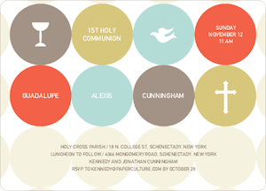 Symbols of Communion Invitations