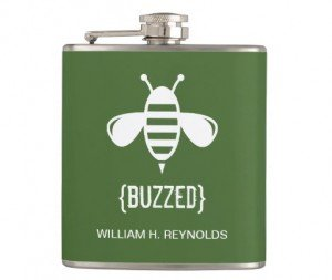bee buzzed bridesmaid flask
