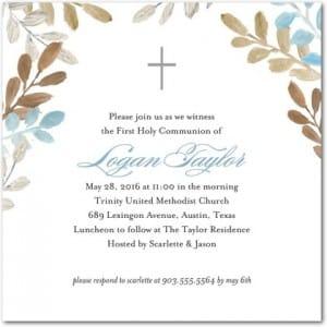 Devoted Garden Communion Invitations