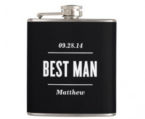 the best man wedding flask