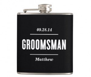 groomsman wedding flask