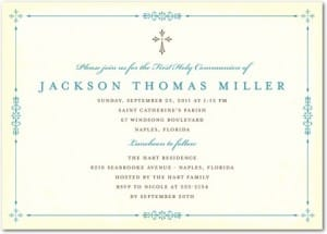 Vibrant Frame Holy Communion Invitations