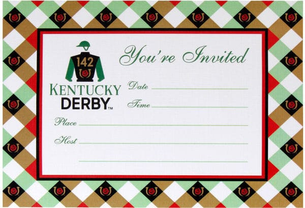 142nd Kentucky Derby Invitation, horse racing theme party invitations