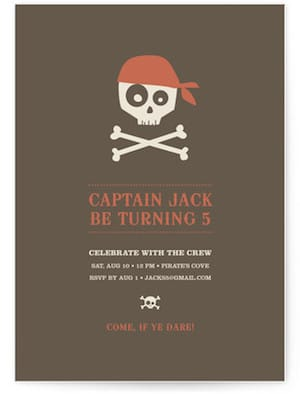 Argh Pirates Childrens Birthday Party Invitations