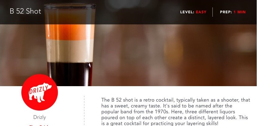 B 52 Shot Recipe