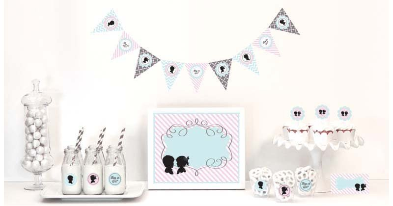 Baby Shower Baby Gender Reveal Party Kit