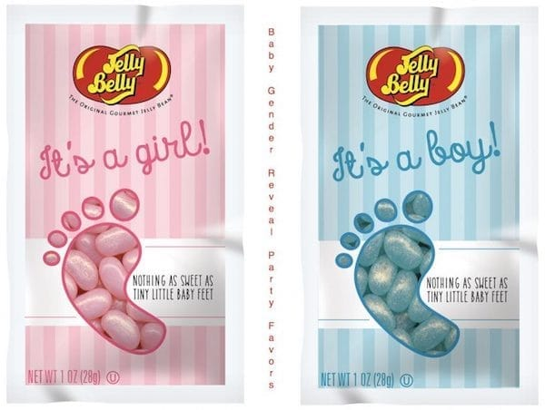 Baby Gender Reveal Party Jelly Belly Party Favors