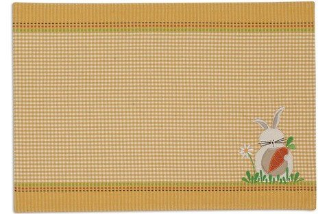 Checkered Bunny Placemat