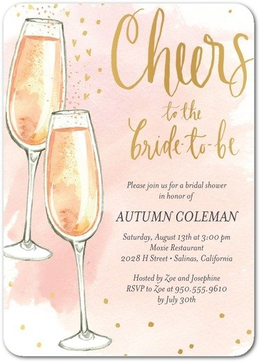 Cheery Fizz Bridal Shower Invitation