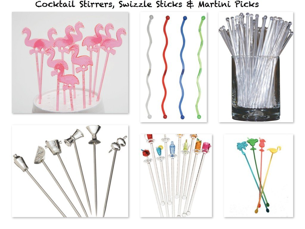 Cocktail Sitrrers Swizzle Sticks Martini Picks