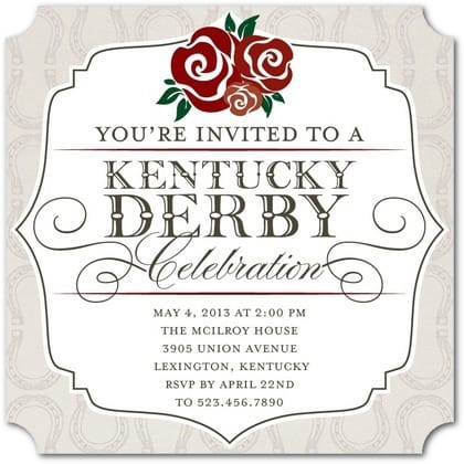 Derby Debut Kentucky Derby Invitation, horse racing theme party invitations