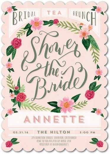 Flirty Florals Bridal Shower Invitations