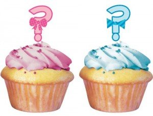 Gender Reveal Question Mark Cupcake Toppers