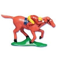Horse Racing Cake Topper