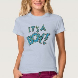 Its a boy baby gender reveal t-shirt