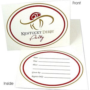 Kentucky Derby Party FIll-In Invitation