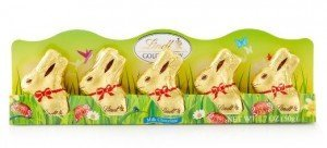 Gold Bunny Chocolates