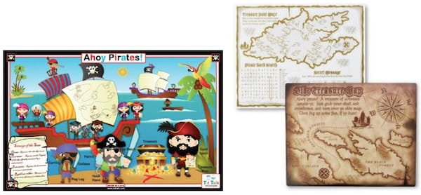 Pirate Activity Placemats