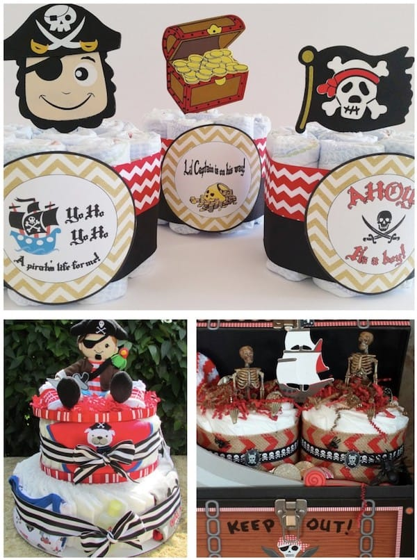 Pirate Diaper Cakes