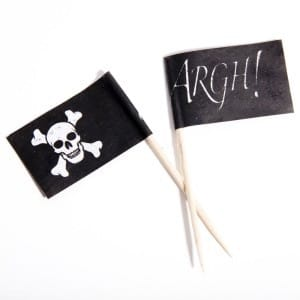 Pirate Flag Food Picks