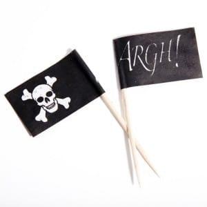 Pirate Flag Food Picks