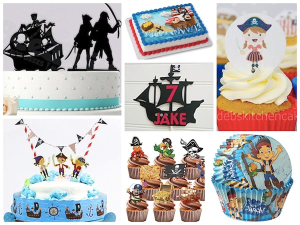 Pirate Party Cake Decorations