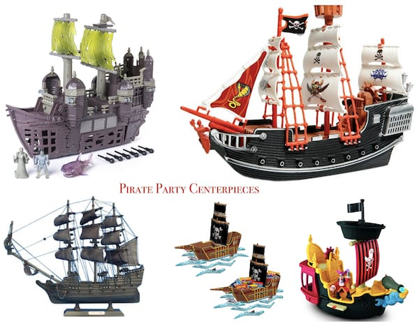 Pirate Party Toy Ships & Centerpieces