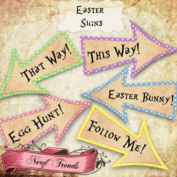 Printable Easter Egg Hunt Arrow Signs