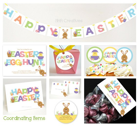 Printable Easter Party Supplies