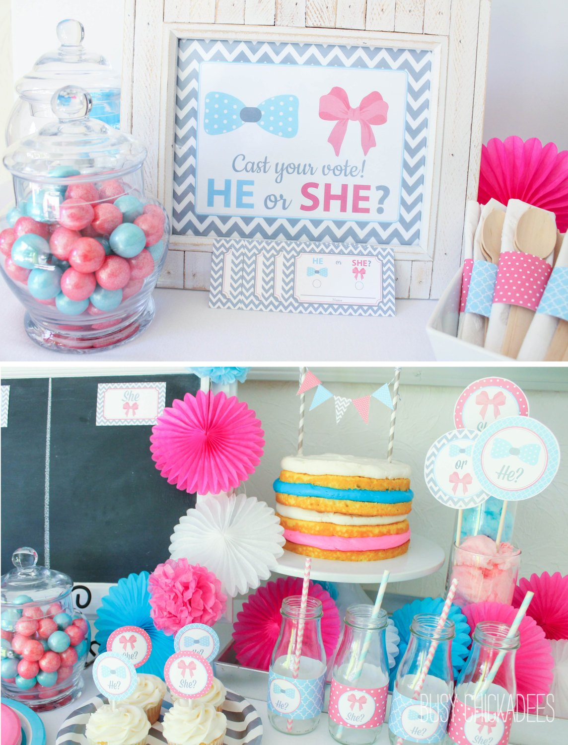 10 baby gender reveal party ideas baby shower for Baby girl party decoration ideas
