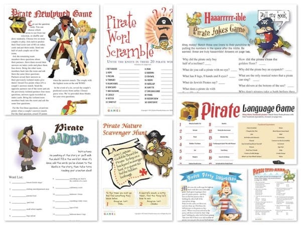 Printable Pirate Games