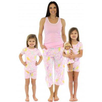 SleepytimePjs Pink Sunny Bird Mommy and Me Matching Spring Pajamas