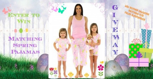 Mommy and Me Matching Spring Pajamas Giveaway