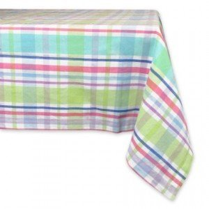 Spring Plaid Tablecloth