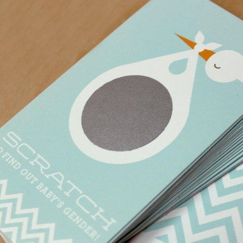 Stork Gender Reveal Scratch Cards