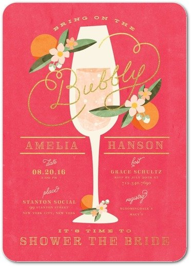 Sweet Nectarine Bridal Shower Invitation