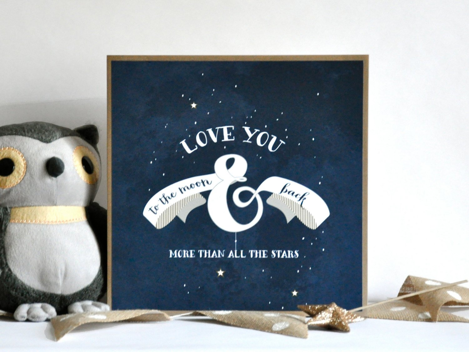 Twinkle Little Star Baby Shower Love you to the Moon and Back Print