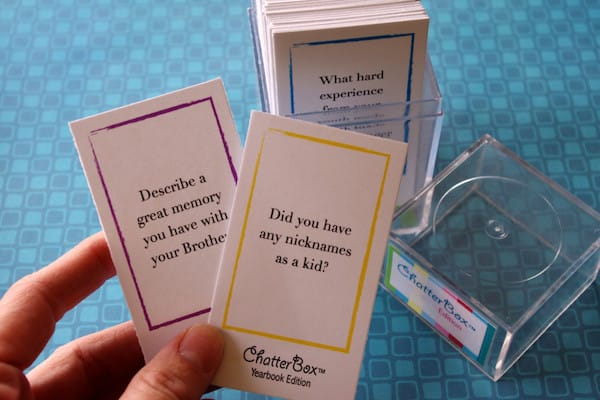 ChatterBox - Printable Family Reunion Game -Yearbook Edition