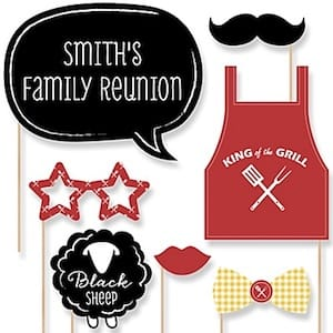 Family Reunion Summer Photo Booth Props