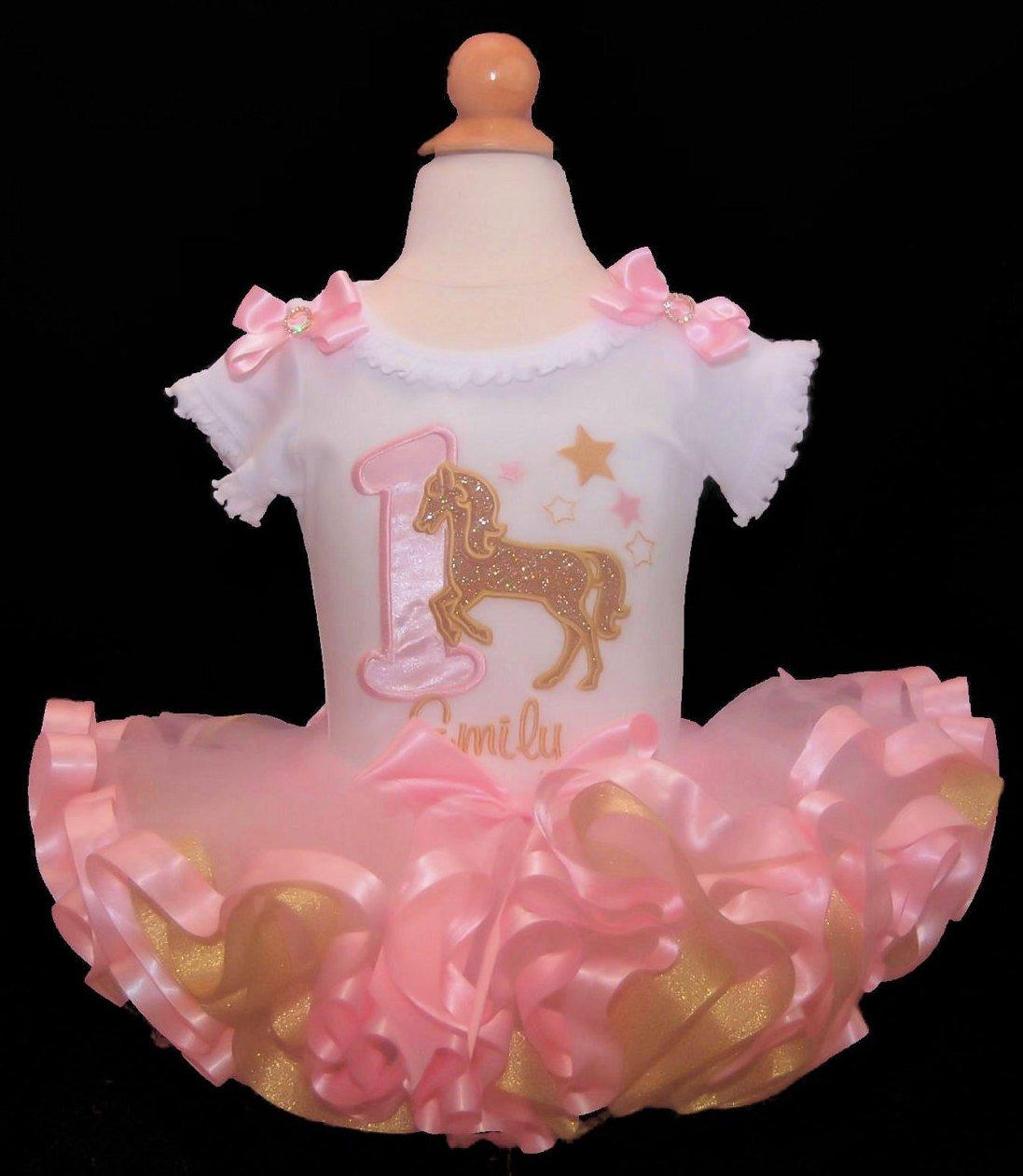 Golden Horse Birthday Party Tutu